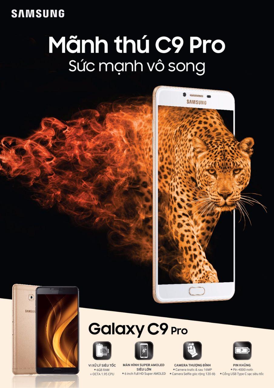 Samsung tung Galaxy C9 Pro với RAM đến 6GB