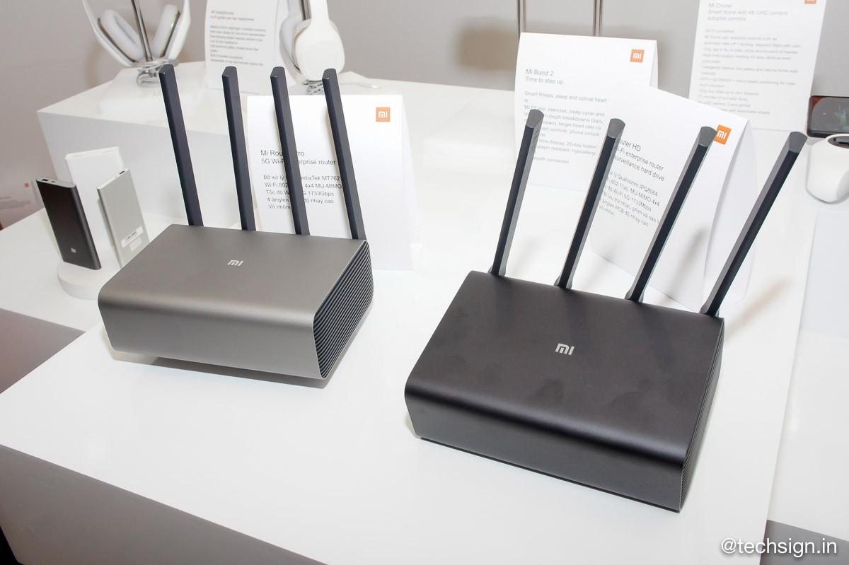 Thiết bị mạng Xiaomi Mi Router HD và Mi Router Pro
