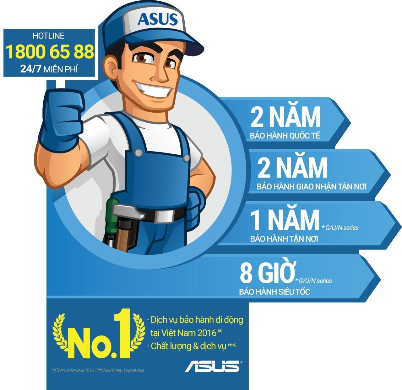ASUS đã có Hotline miễn phí và 54 trung tâm Bảo hành