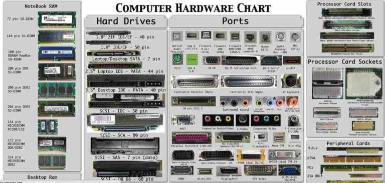 Bạn có thể tìm hiểu về linh kiện của máy tính thông qua những biểu đồ này