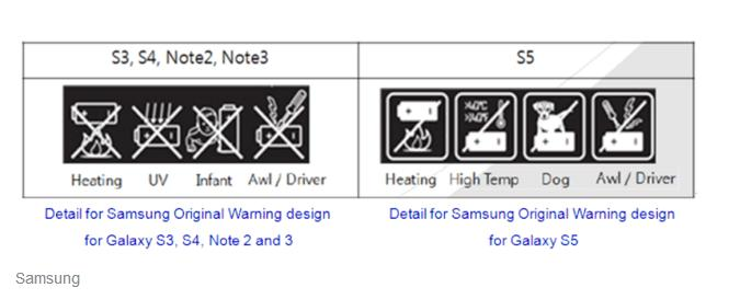 """Vì sao có biểu tượng """"Cấm chó"""" trên pin của Galaxy S8?"""