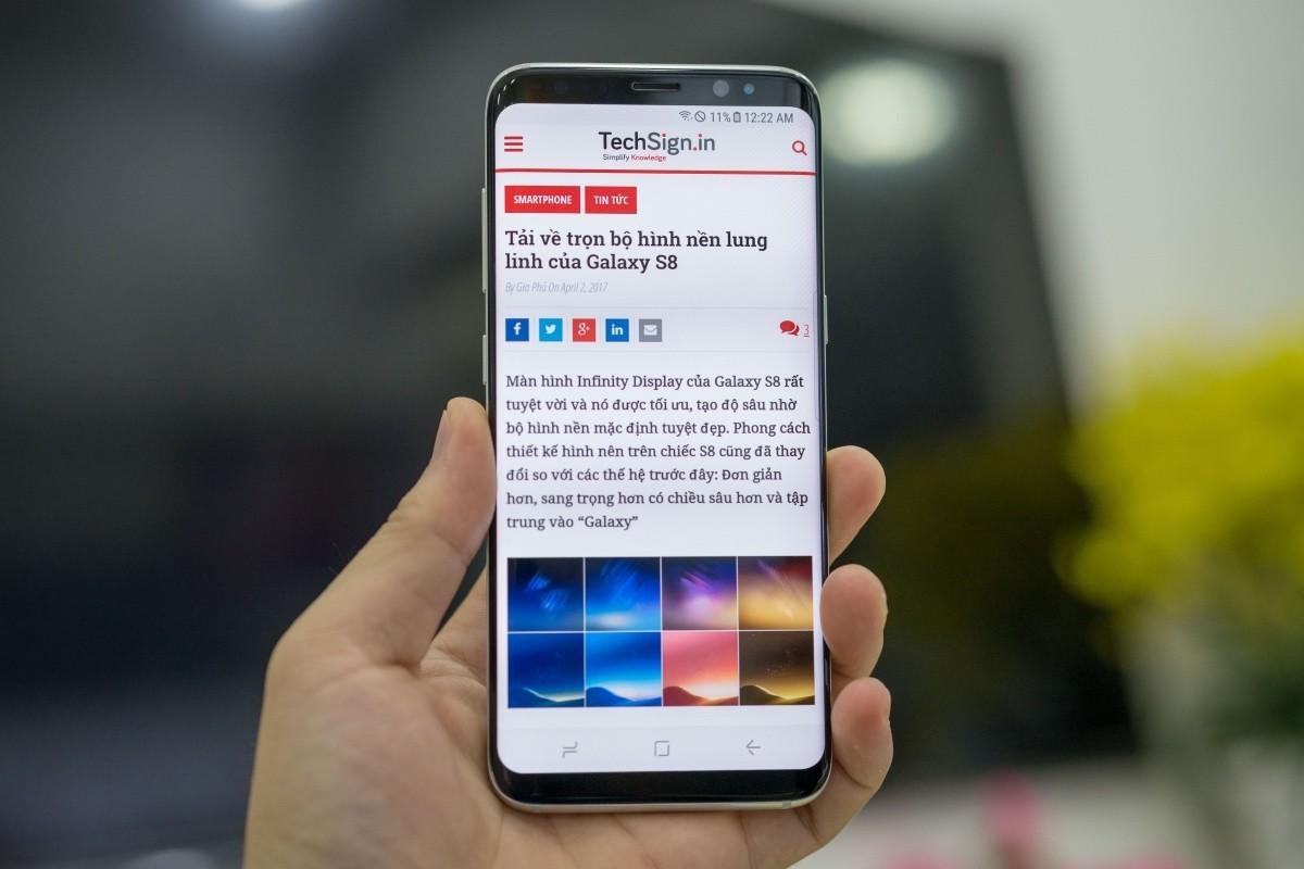 Samsung Galaxy S8 nhập khẩu về TP.HCM, giá 17 triệu đồng