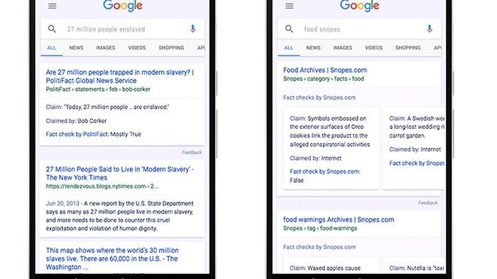 Sau Facebook, Google cũng giới thiệu tính năng chống tin giả mạo trên trang tìm kiếm