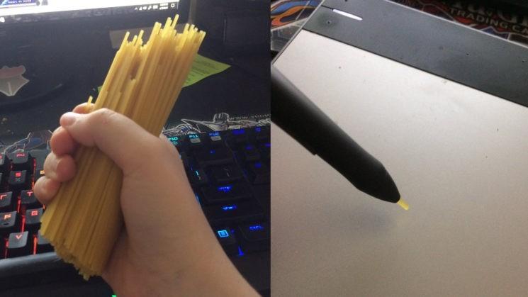 Sợi mì spaghetti có thể thay thế ngòi bút của Wacom