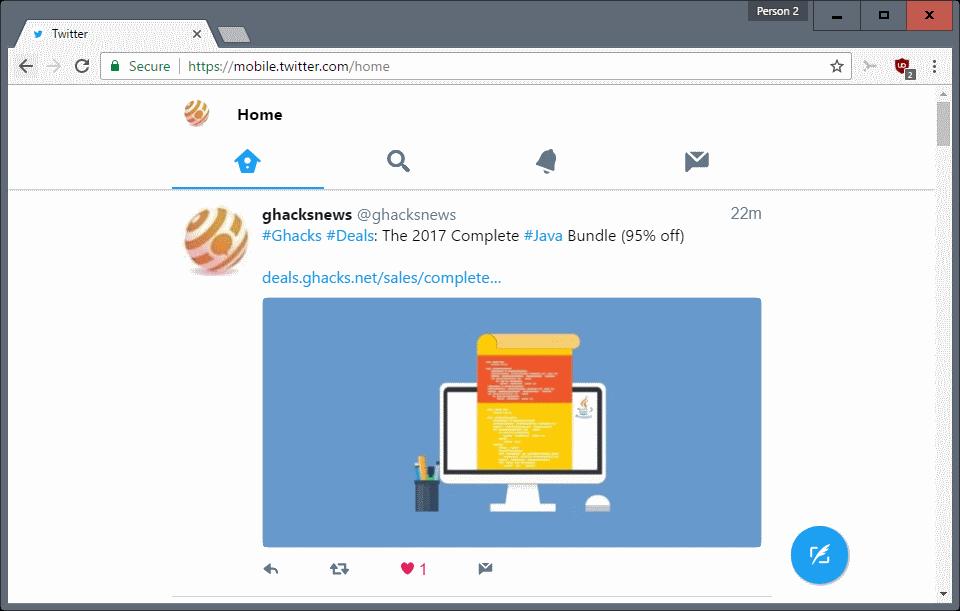 Twitter Lite - phiên bản rút gọn thân thiện với gói dữ liệu của người dùng