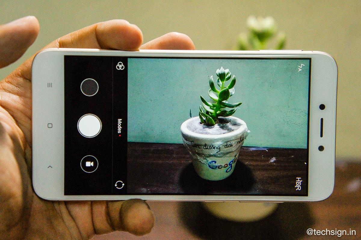 Giao diện camera trên Redmi 4X