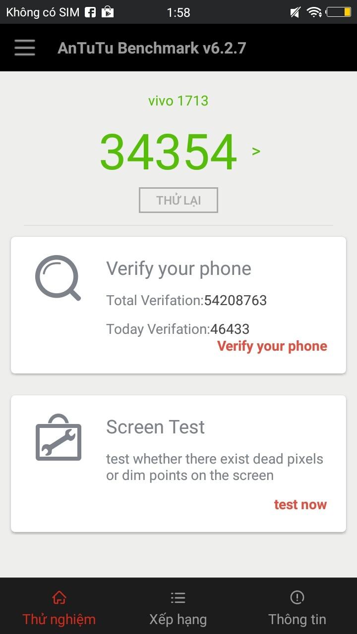 Điểm AnTuTu của Vivo V5s