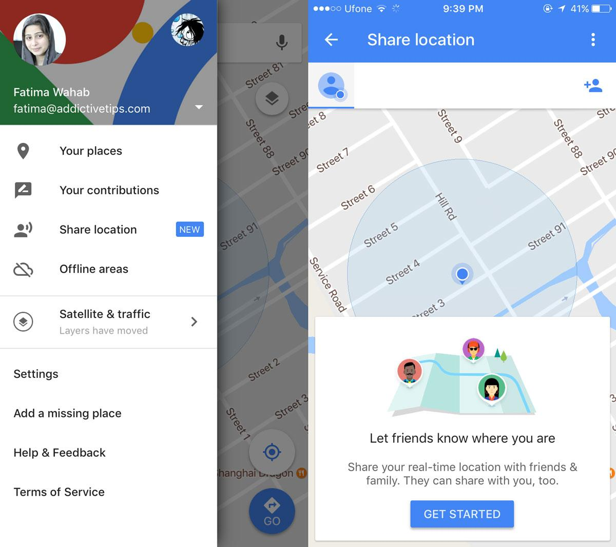 Cách chia sẻ vị trí theo thời gian thực với Google Maps