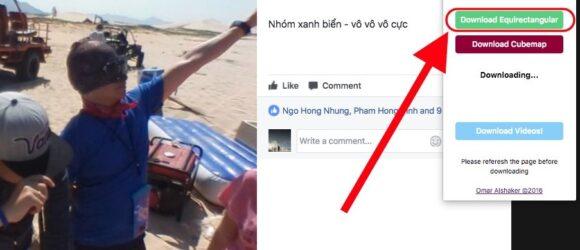 Cách tải ảnh 360 từ mạng xã hội Facebook