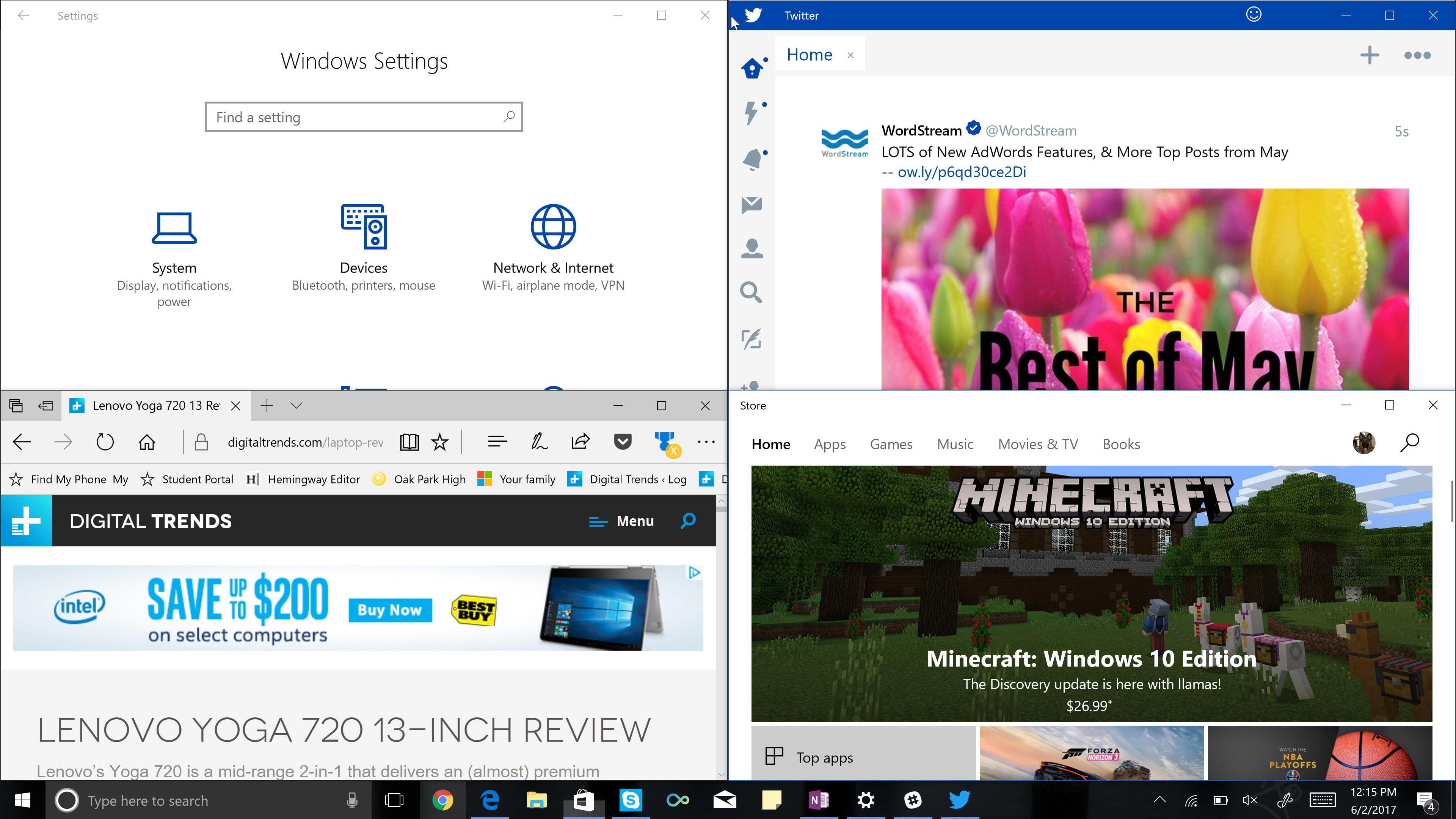 Chia màn hình để quản lý công việc trên Windows 10 | Điểm tin công nghệ