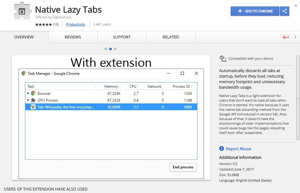 Tăng tốc khởi động Google Chrome bằng Native Lazy Tabs
