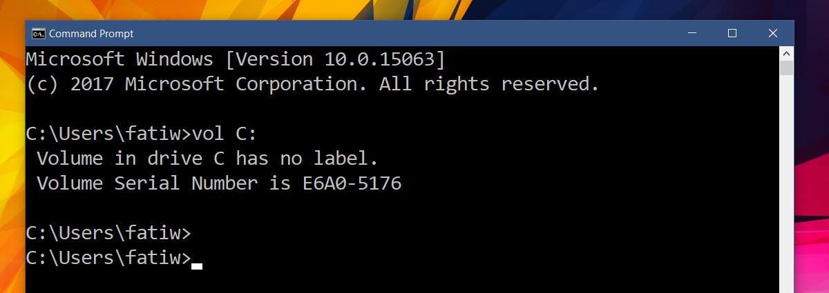 Cách tìm số Serial của ổ cứng trên Windows