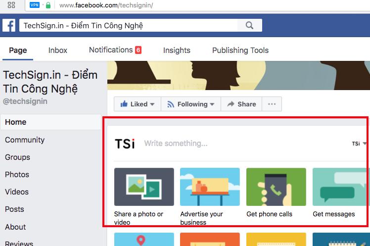 Nhiều Fanpage Facebook không thể xuất bản bài viết