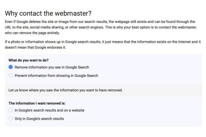 Xoá thông tin cá nhân khỏi kết quả tìm kiếm