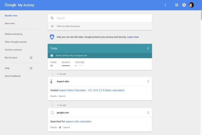 Gỡ bỏ những dữ liệu Google đã thu thập từ bạn