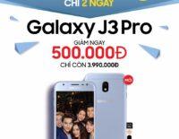 Samsung lên kệ Galaxy J3 Pro: 3 màu, camera 1.9, giá 4,5 triệu đồng