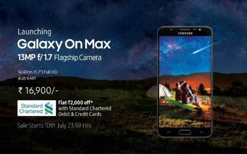 Samsung giới thiệu Galaxy On Max tại Ấn Độ
