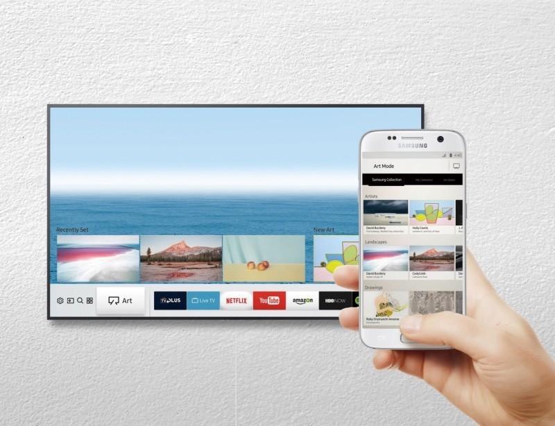 Samsung lên kệ TV khung tranh, tặng Galaxy S8+ Tím khói cho 30 khách hàng đầu tiên