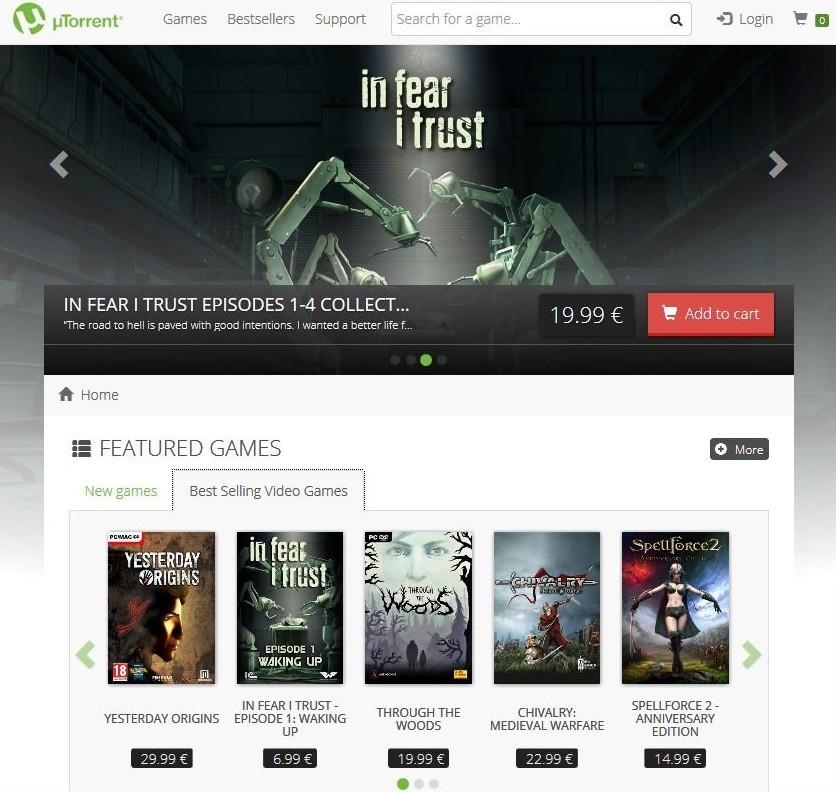 uTorrent âm thầm cập nhật, có thêm kho game riêng