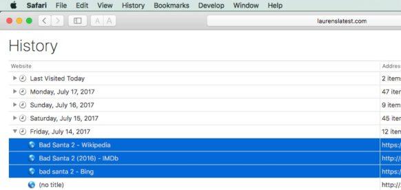 Hướng dẫn xóa lịch sử duyệt web của trình duyệt trên Mac