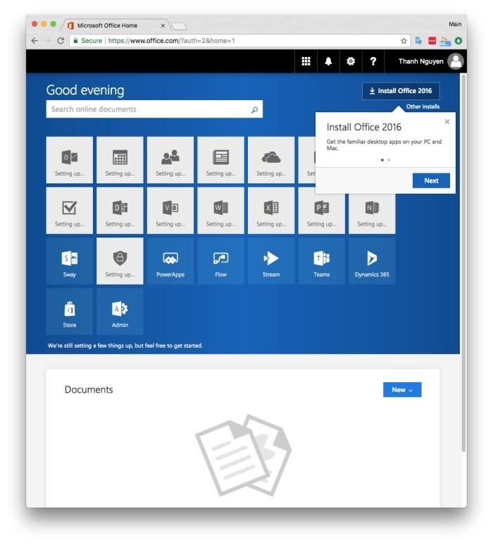 Hướng dẫn lấy bản quyền 1 năm bộ Microsoft Office 365