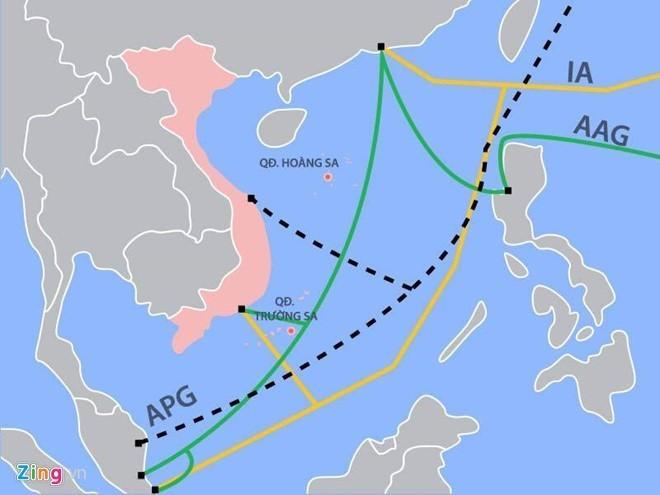 Tuyến cáp quang biển AAG lại gặp sự cố