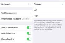 Kích hoạt chế độ dùng phím một tay trên iOS 11