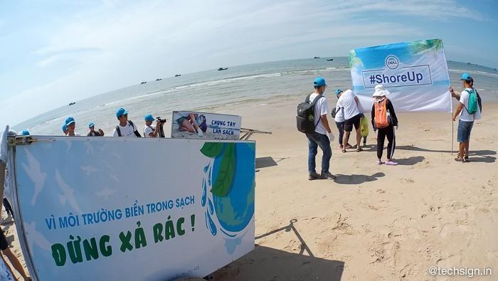 Dell ShoreUp Day: chương trình dọn dẹp chất thải nhựa trên biển