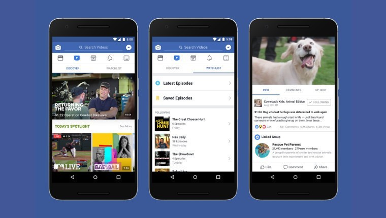 Facebook tung một nền tảng mới cho nội dung video
