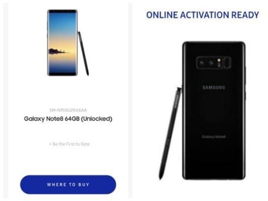 Samsung Galaxy Note 8 có thể ra mắt với hai tuỳ chọn phụ kiện