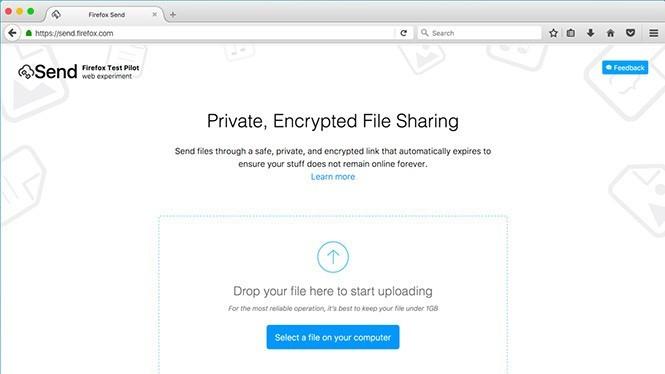 Cách gửi tập tin lớn an toàn đến bất cứ ai qua Firefox Send