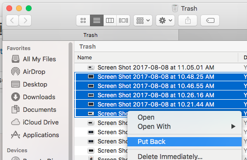 Dễ dàng khôi phục tập tin bị xoá trong macOS