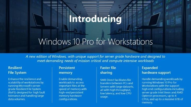 Microsoft chính thức giới thiệu Windows 10 cho 'máy trạm'