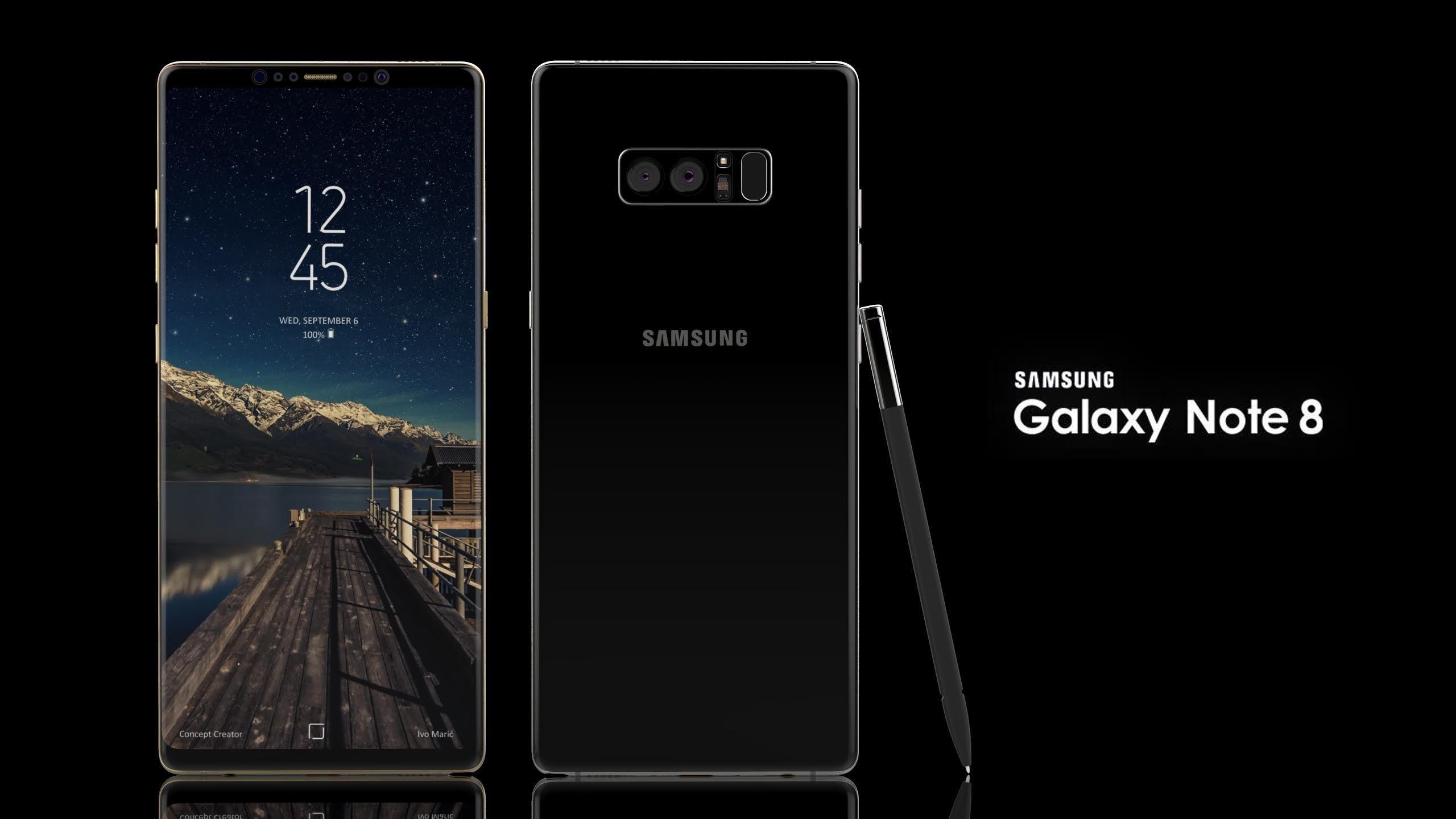 Samsung xác nhận Galaxy Note 8 có màn hình siêu lớn