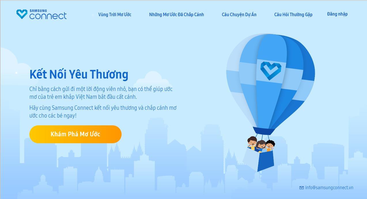 Samsung Connect: kết nối những ước mơ của trẻ em vùng khó khăn đến cộng đồng