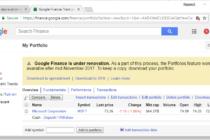 """Google Finance: Tính năng portfolio sẽ """"nghỉ hưu"""" vào tháng 11-2017"""