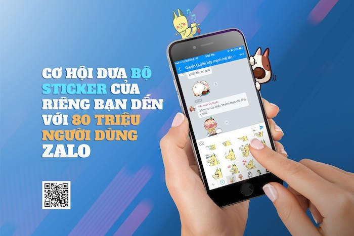 Cơ hội giới thiệu Sticker tự thiết kế đến 80 triệu người dùng Zalo