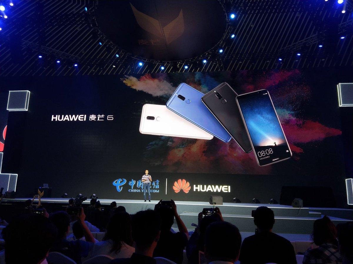 Huawei ra mắt Maimang 6, smartphone 4 camera đầu tiên của hãng