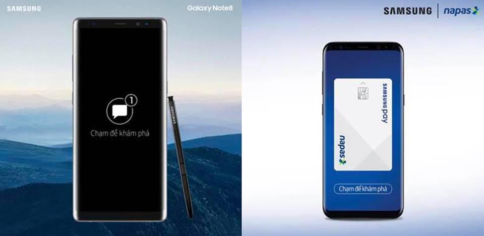 ngày 13/9 tuần sau Samsung sẽ phủ kín truyền thông với Note 8 và dịch vụ thanh toán Samsung Pay lần đầu xuất hiện tại Việt Nam.