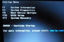Các tổ hợp phím tắt để vào BIOS trên các laptop thông dụng hiện nay