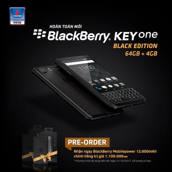BlackBerry KEYone Black Edition mở đặt trước, chỉ có 1 SIM, giá 16 triệu đồng