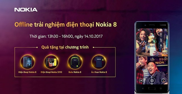 HMD Global sắp tổ chức sự kiện trải nghiệm Nokia 8 tại TP.HCM và Hà Nội