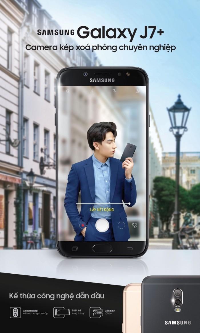 Samsung lên kệ Galaxy J7+ giá 8,7 triệu: camera kép, RAM 4GB, mang giao diện Galaxy S8