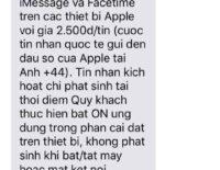 Nhà mạng Viettel gửi tin nhắn thu phí kích hoạt iMessage