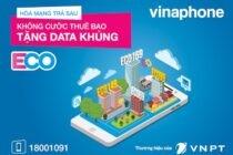 VinaPhone miễn cước thuê bao tháng cho trả sau