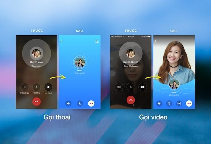 Zalo cập nhật diện mạo mới cho gọi thoại và video
