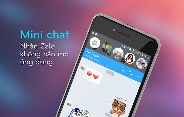 Zalo cập nhật Mini chat giúp vừa nhắn tin vừa xem video