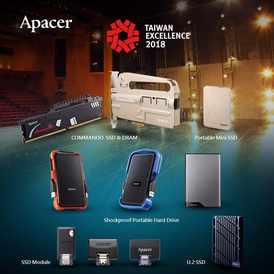 Sáu sản phẩm Apacer đoạt giải Taiwan Excellence lần thứ 26