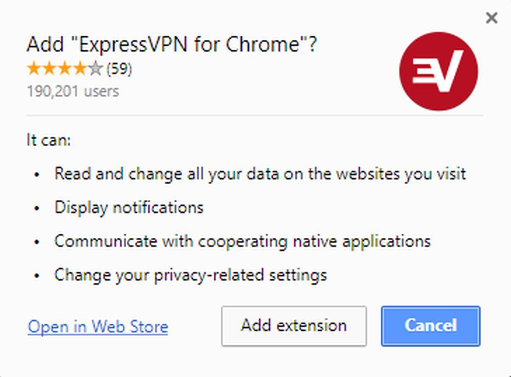 Cài đặt tiện ích mở rộng ExpressVPN trên Google Chrome